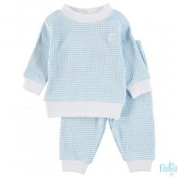 Pyjama feetje wafel azuur