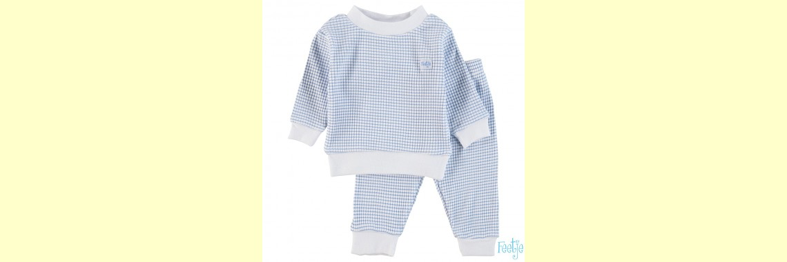 Pyjama Feetje wafel bleu