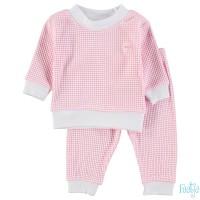 Pyjama feetje wafel roze