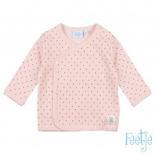 Feetje omslagshirt dots roze