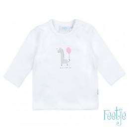 Feetje t-shirt giraffe wit/roze
