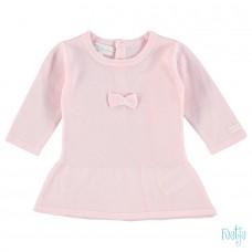Feetje jurk gebreid roze