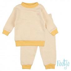 Pyjama feetje wafel geel