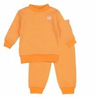 Pyjama feetje wafel oranje