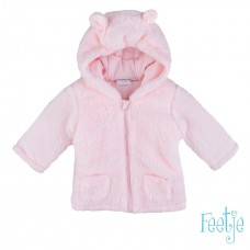 Feetje baby jas teddy roze