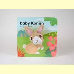 Vingerpop boekje baby konijn